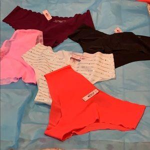New!! 5 pairs of Victoria Secret Underwear